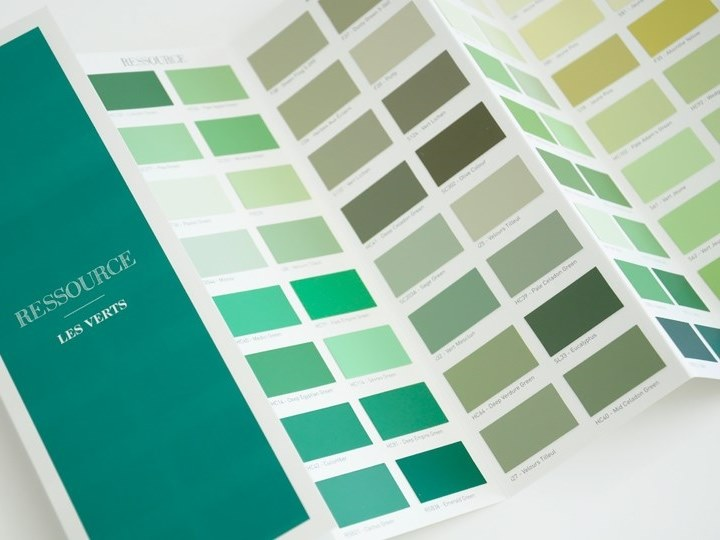 Decorative painting finish LES VERTS by Ressource
