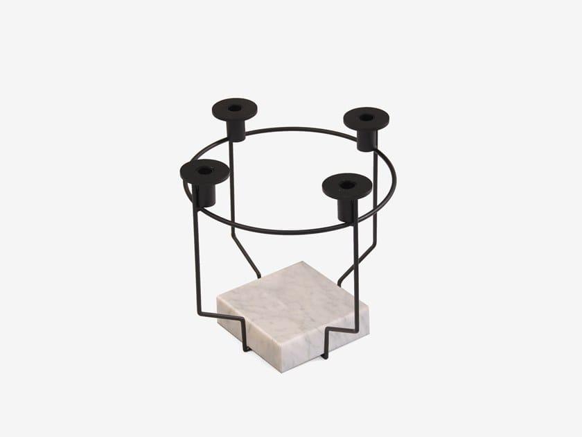 Kerzenständer hirsch kranz rund aus metall für kerzen ohne deko