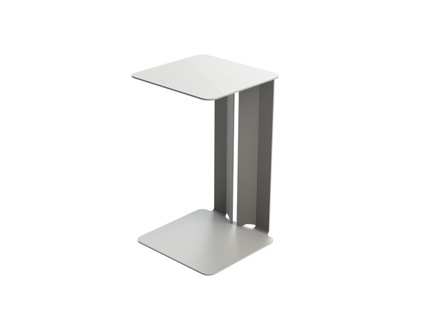 Powder coated steel side table LESTE by Matière Grise