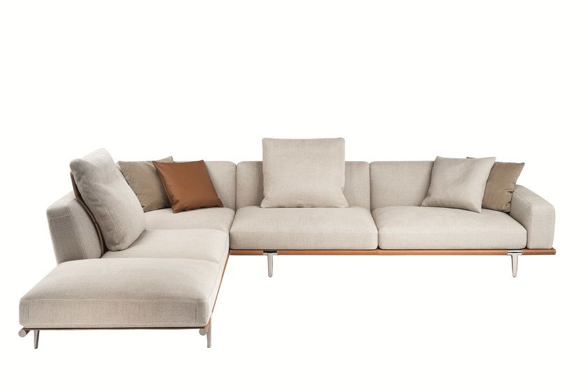 Sectional fabric sofa LET IT BE By Poltrona Frau design ...