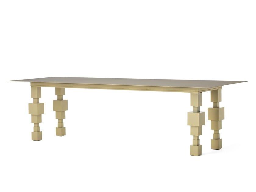Rectangular plate table LET'S TALK by Officine Tamborrino