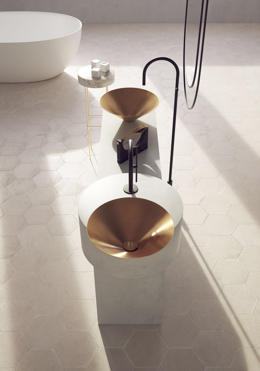 Semi-inset round washbasin LETO | Semi-inset washbasin by BASSINES