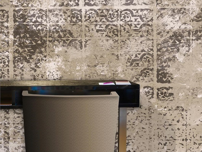 Industrial and modern wallpaper, PVC free, eco, washable LETTERPRESS GARDEN by Wallpepper