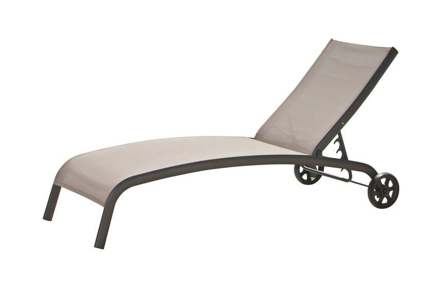 Lettino da giardino pieghevole reclinabile in metallo con for Lettini da giardino economici