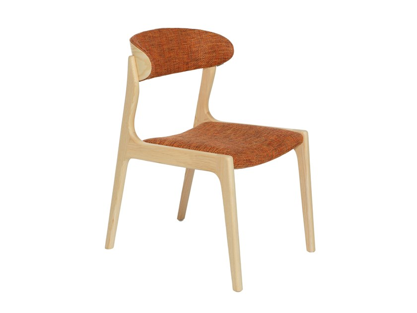 Solid wood chair with integrated cushion LETTY by Conceito Casa