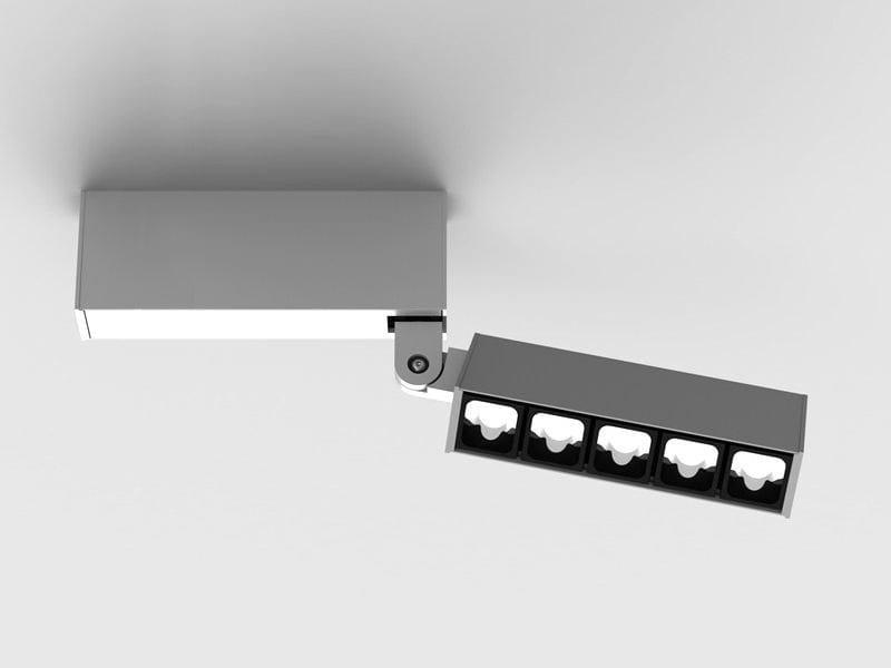 Faretto a LED multiplo a soffitto LEVA   Faretto orientabile by Lucifero's