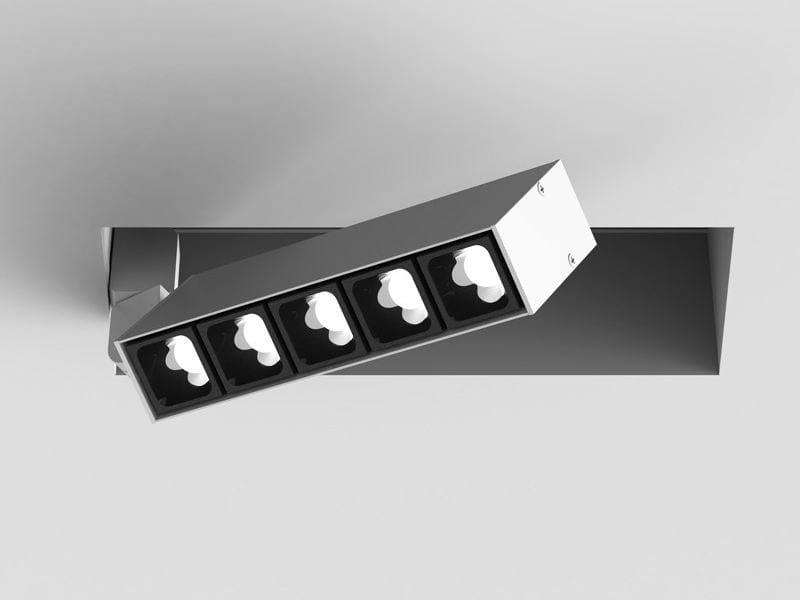 LED adjustable recessed spotlight LEVA | Rectangular spotlight by LUCIFERO'S