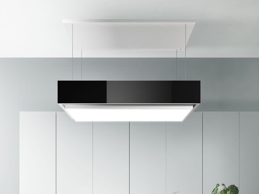 Cappa a carboni attivi ad isola in acciaio inox con illuminazione integrata LEVANTE by Falmec