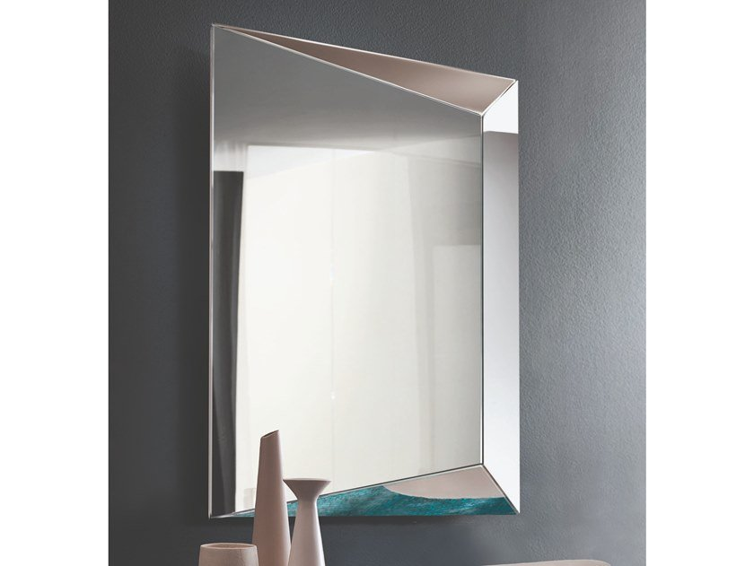 Rectangular wall-mounted mirror LEVANTE by RIFLESSI