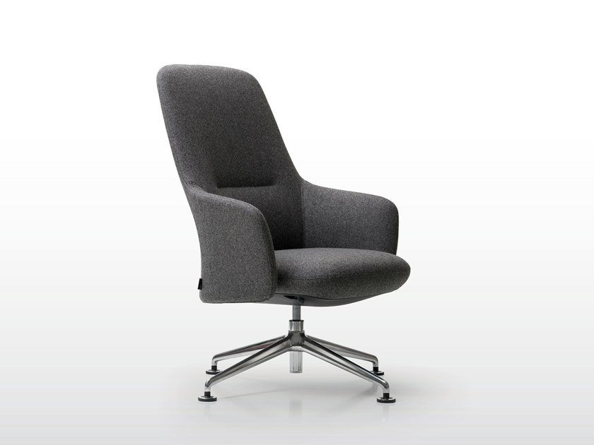 High-back armchair with 4-spoke base LEVEL | High-back armchair by Quinti Sedute