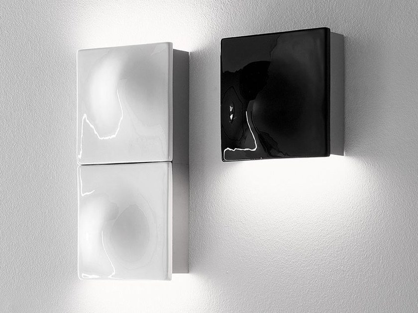LED indirect light thermo lacquered aluminium wall light LEVEL by Exporlux