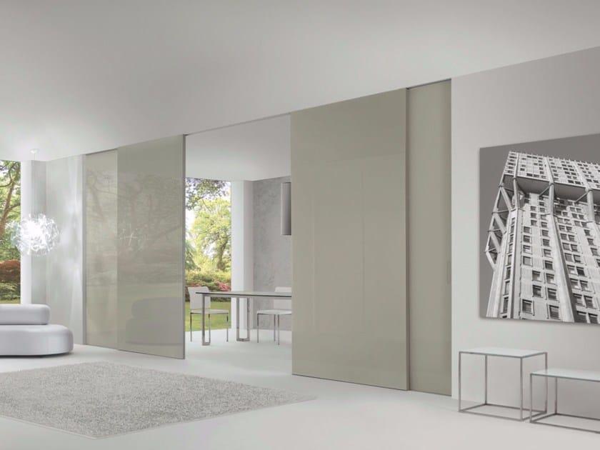 Glass and aluminium sliding door LEVIA | Sliding door by RES