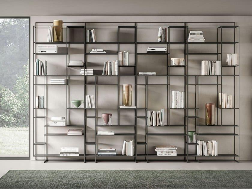 Libreria a giorno in metallo LEVIA TALL by Ronda Design