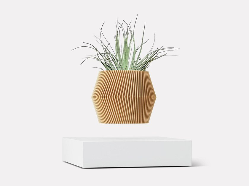 Levitating wood vase LOOMA HOVERBOX + POT – ONE by LOOMA
