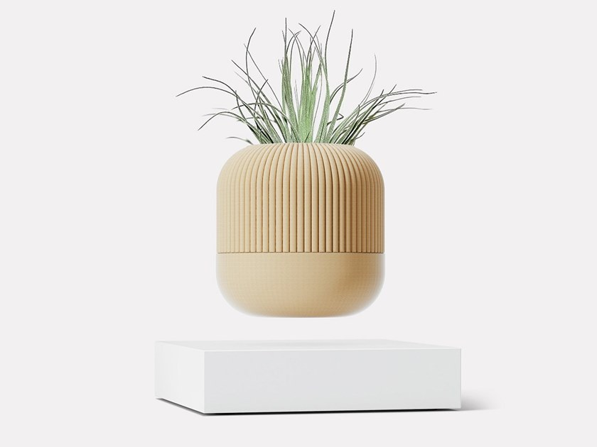 Levitating wood vase LOOMA HOVERBOX + POT – TWO by LOOMA