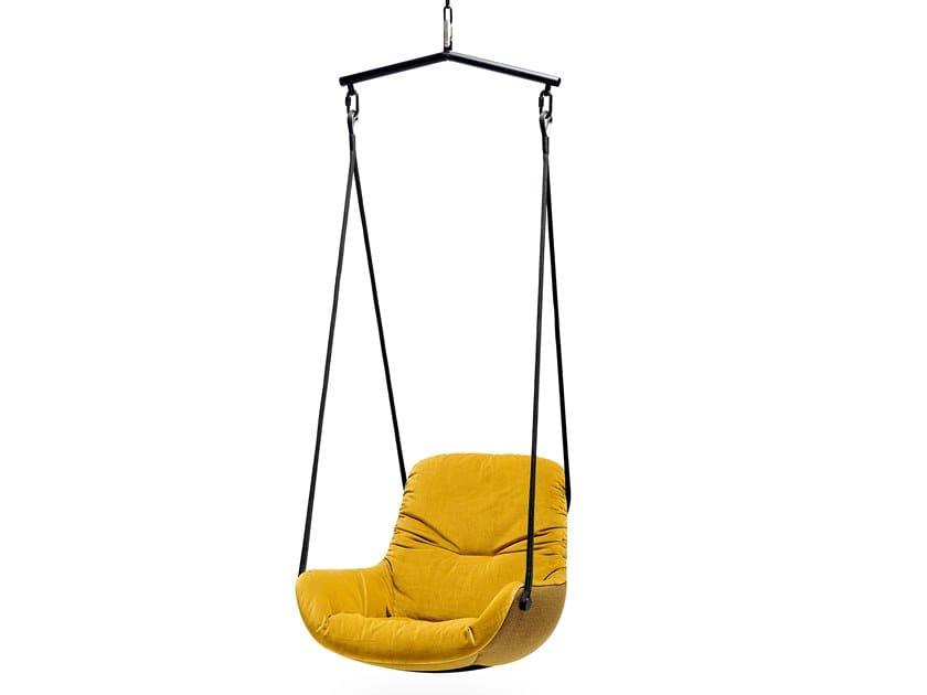 Swing fabric armchair with armrests LEYA SWING SEAT by Freifrau