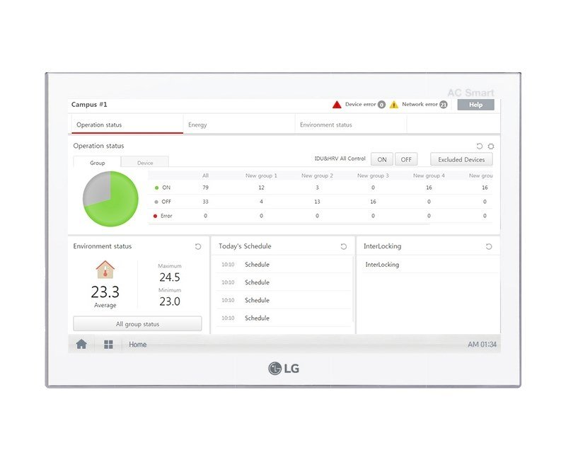 Building automation system interface AC SMART 5 by LG Electronics