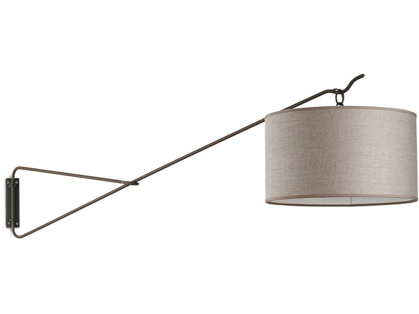 Adjustable iron wall lamp LIA by Cantori
