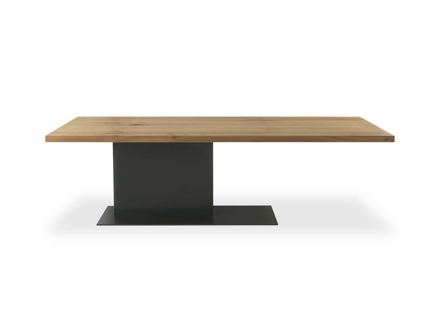 Tisch aus massivem Holz LIAM IRON By Riva 1920 Design C.R.&S. RIVA1920
