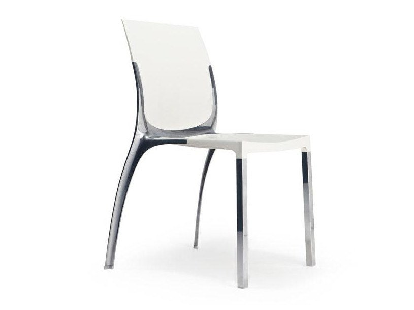 Stackable polycarbonate chair LIANA | Chair by Mara