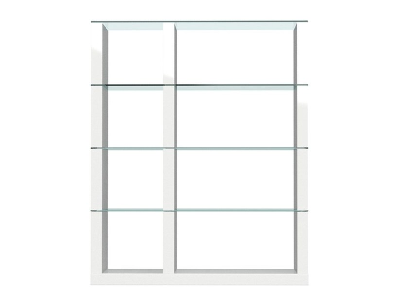 Open freestanding double-sided bookcase LIB   Freestanding bookcase by Calligaris