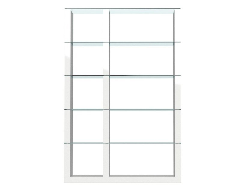 Freestanding double-sided divider bookcase LIB | Open bookcase by Calligaris