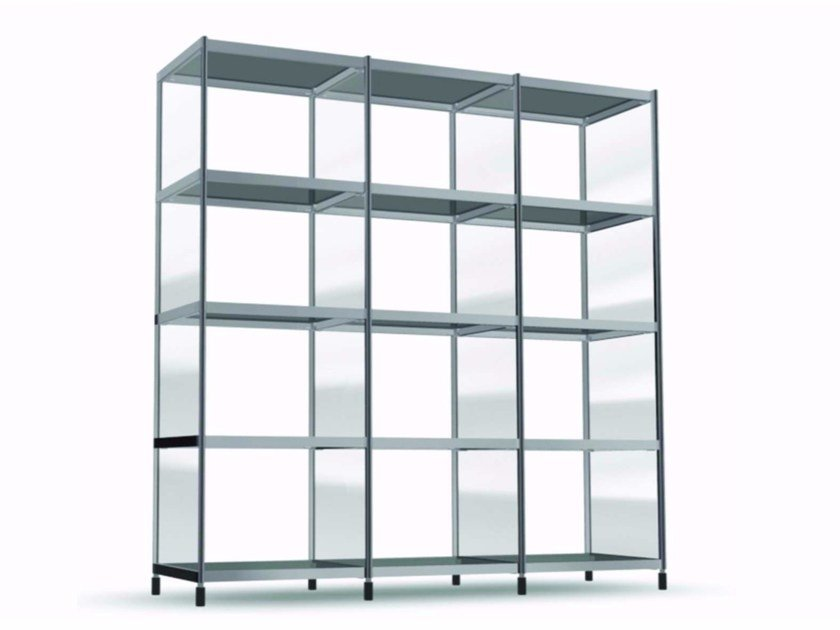 Open sectional modular bookcase LIB007 - SEC_lib007 by Alias