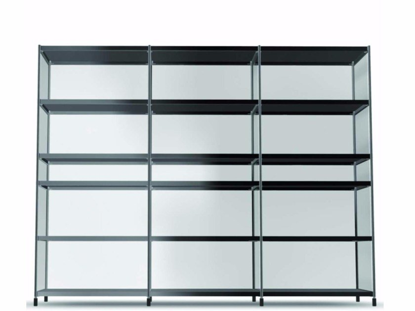 Open modular methacrylate bookcase LIB013 - SEC_lib013 by Alias