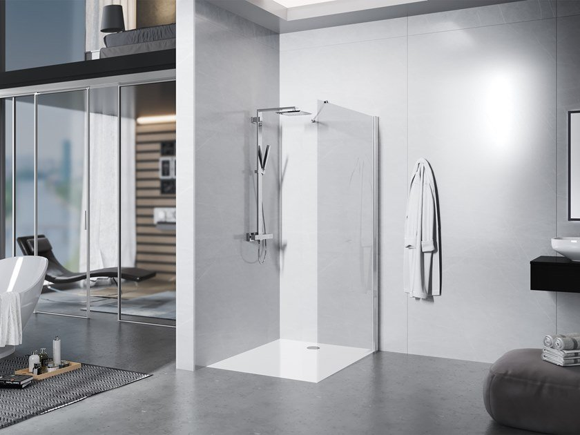 Crystal Walk in shower LIBERO 3000 by Duka