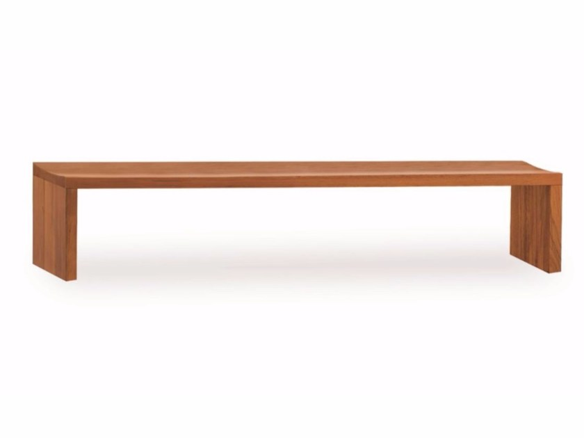 Solid wood bench LIBERO by Riva 1920