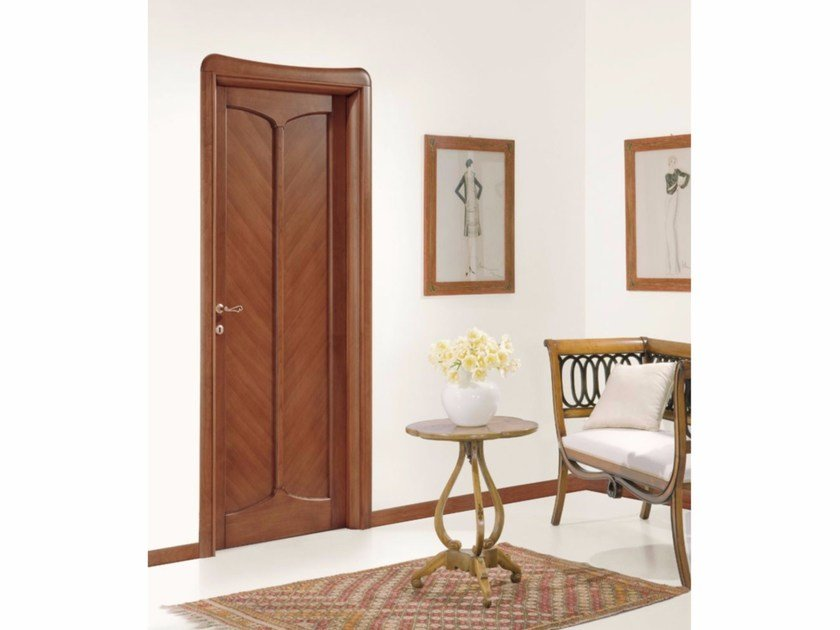 Hinged solid wood door LIBERTY by LEGNOFORM