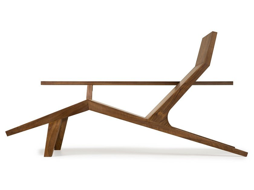 Wooden lounge chair LIBERTY LOUNGER by moooi