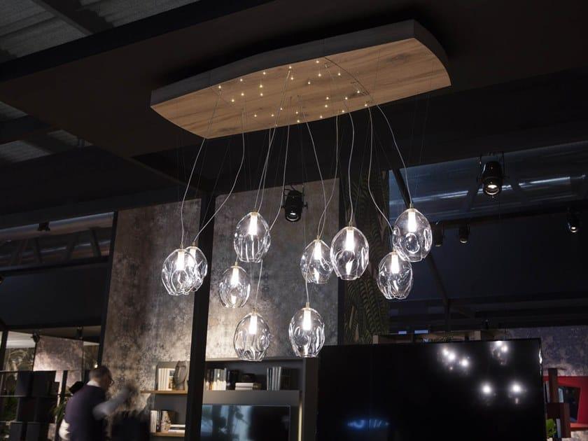 Adjustable pendant lamp LIBRA by Ozzio Italia