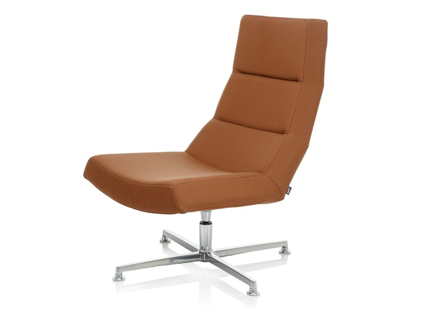 Armchair with 4-spoke base LIBRA REST by RIGA CHAIR
