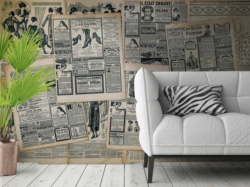 Adhesive washable wallpaper NEWSPAPERS by Wall LCA