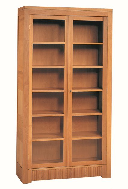 Wood and glass bookcase / display cabinet SCACCHI by Morelato