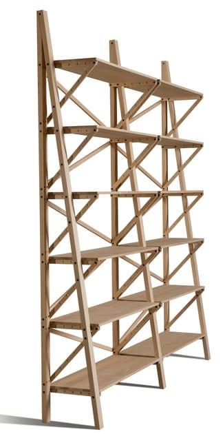 Open solid wood bookcase BALOCCO | Bookcase by Morelato
