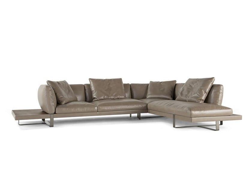 5 seater corner leather sofa LIBRETTO | Corner sofa by ROCHE BOBOIS