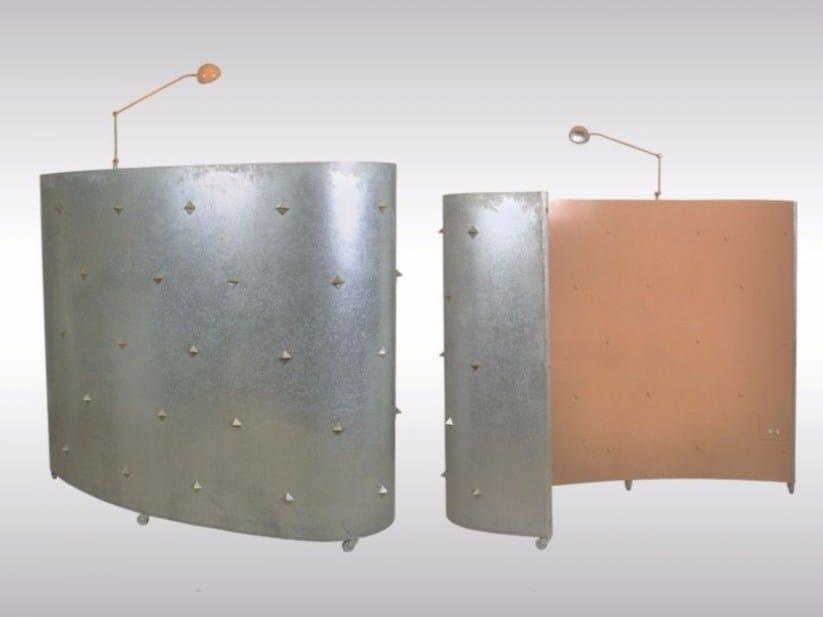 Steel room divider LICHT-PARAVENT by Woka Lamps Vienna
