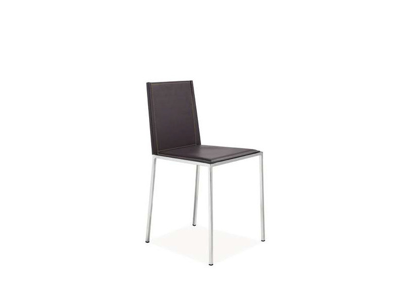 Height-adjustable tanned leather chair LIDANIA by CREO Kitchens
