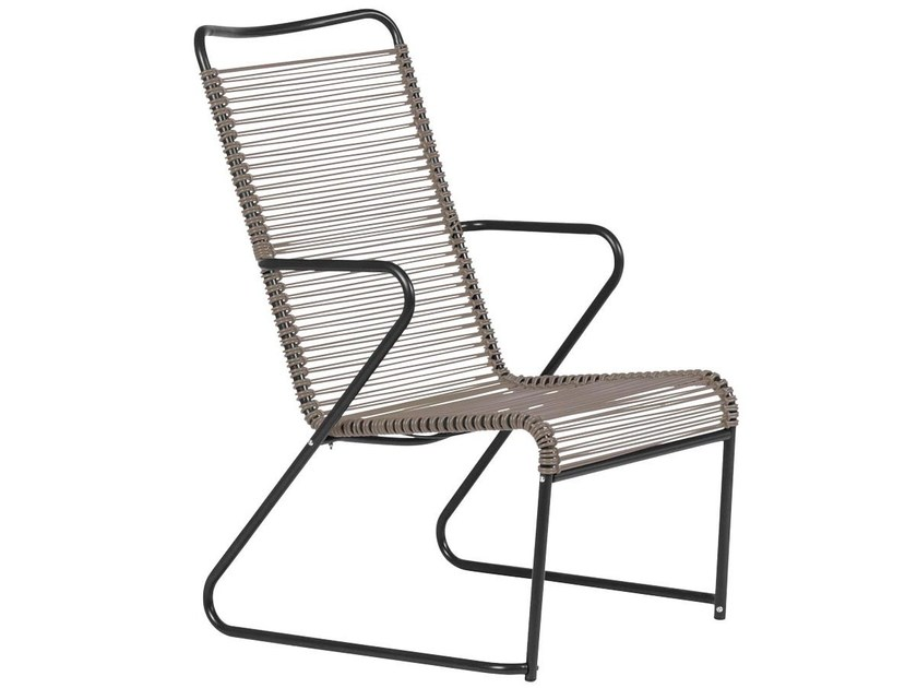 Sled base easy chair high-back LIDO | Easy chair high-back by FIAM