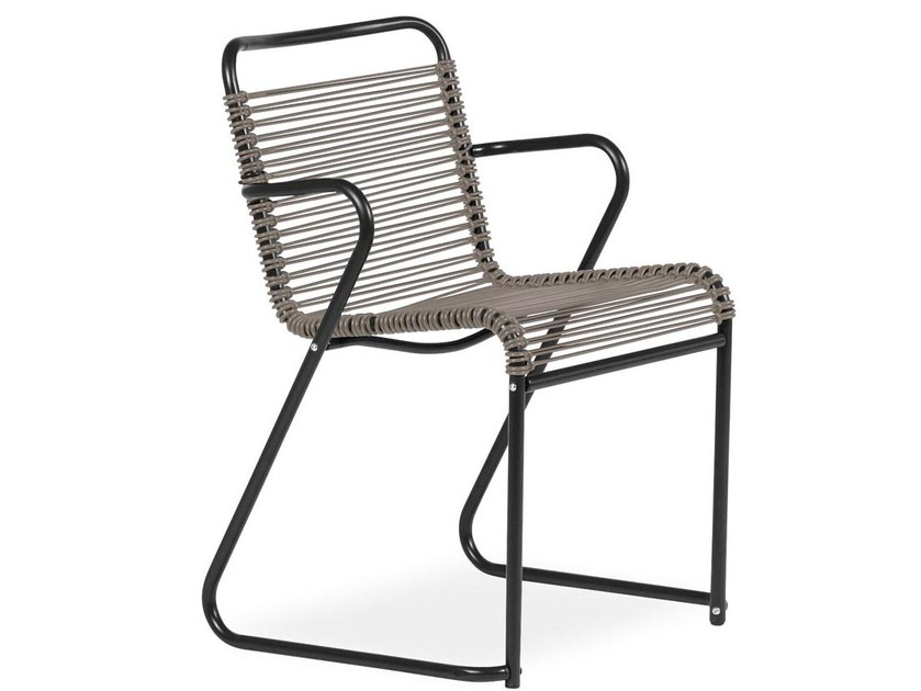 Sled base chair with armrests LIDO | Chair with armrests by FIAM