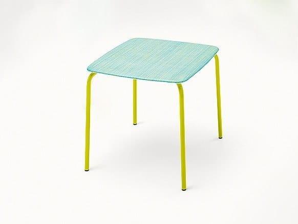Tavolo da giardino impilabile quadrato LIDO | Tavolo by paola lenti