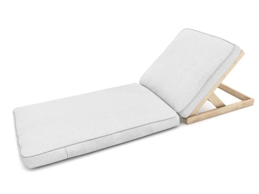 Lettino da giardino reclinabile in tessuto LIFE by Zuri Design