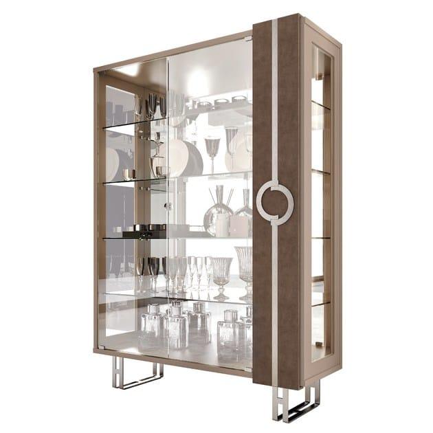 Vetrina laccata in cristallo in stile moderno con illuminazione integrata LIFT   Vetrina con illuminazione integrata by Caroti