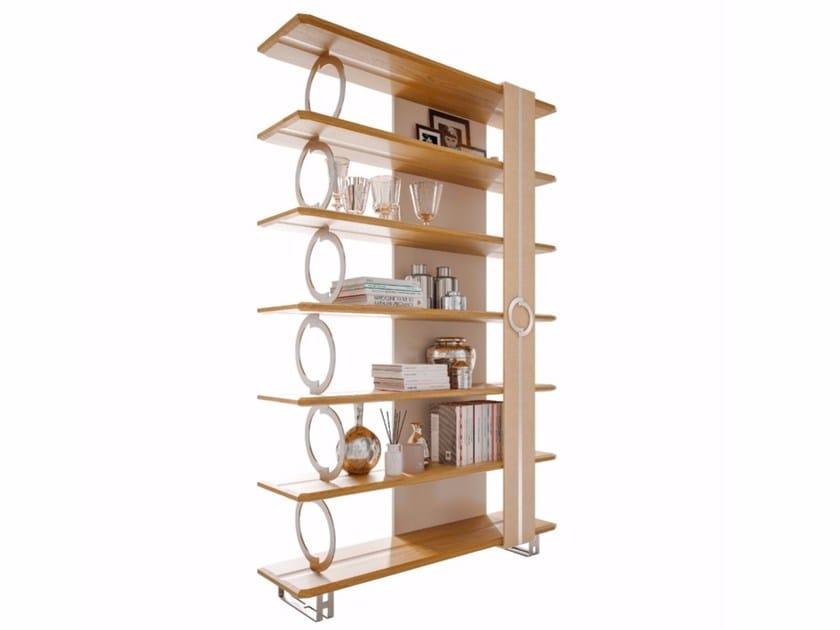 Contemporary style open freestanding double-sided wooden bookcase LIFT | Freestanding bookcase by Caroti