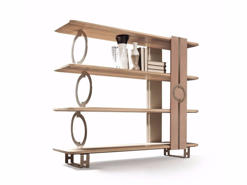 Open wooden bookcase LIFT | Open bookcase by Caroti