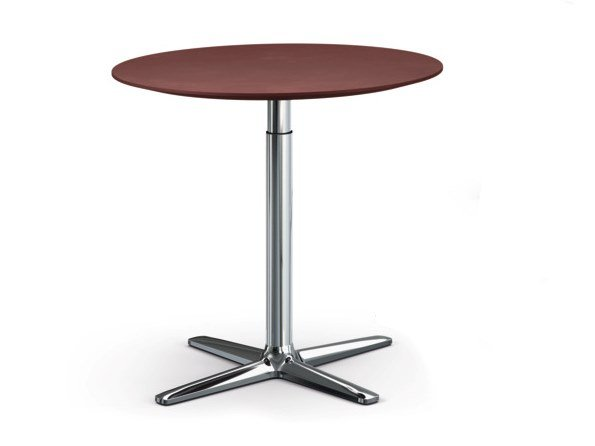Height-adjustable round HPL table LIFT | Round table by Brunner