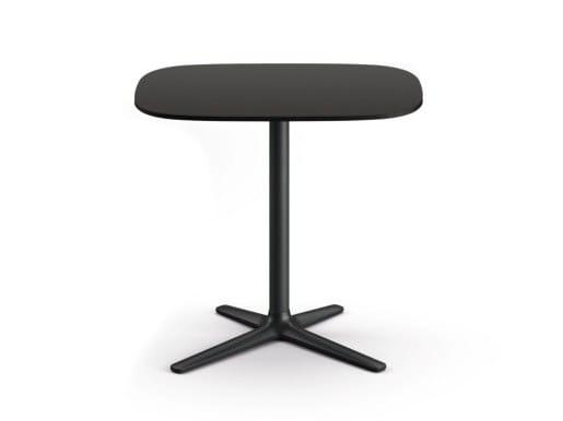 Height-adjustable rectangular HPL table LIFT | Rectangular table by Brunner
