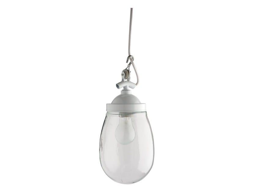 Glass and steel pendant lamp LIGHT.049.001 by ZANGRA